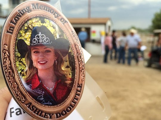 Ashley Doolittle was posthumously crowned the 2017 Boulder County Fair and Rodeo Queen July 31. The Berthoud teen was killed earlier this month.