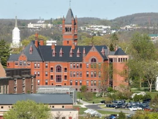 The York-based Dempwolf-designed Glatfelter Hall at Gettysburg College has been compared to the old York Collegiate Institute building.