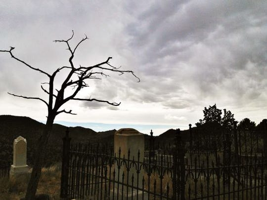 The Silver Terrace Cemetery in Virginia City looks like something out of a horror movie.