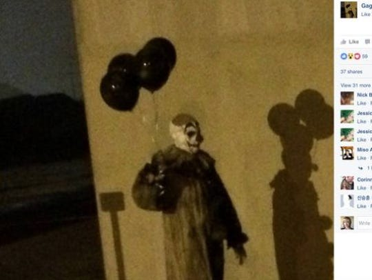 Gags the clown went viral when this photo of him in