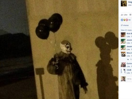 "Gags the clown went viral when this photo of him in Green Bay showed up in August. It turns out he's the title character in ""Gags,"" a short horror film that will have its world premiere Oct. 3 at De Pere Cinema."