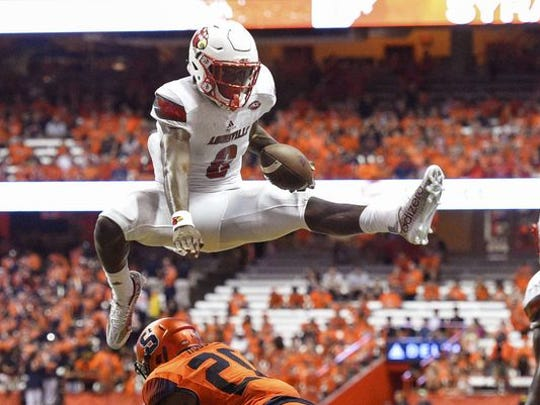 Louisville quarterback Lamar Jackson has totaled nearly 5,000 yards in 12 games.