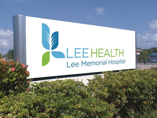 The new blue and green logo for Lee Health were unveiled