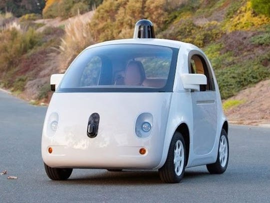Google's self-driving car prototype carries two people