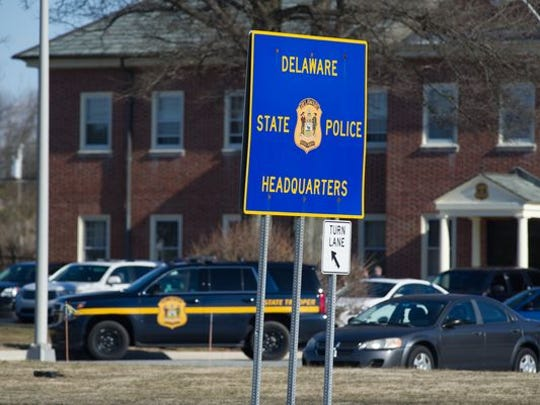 The Delaware State Police headquarters in Dover is shown February. The agency received the backing of the U.S. Department of Justice this week in its legal efforts to keep secret details about cell phone surveillance technology.