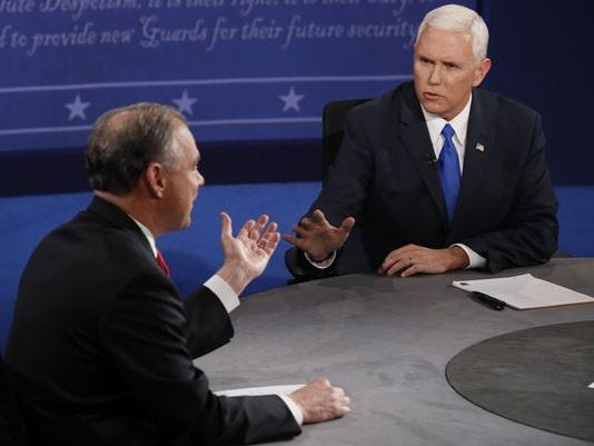 Tim Kaine Mike Pence debate that mexican thing