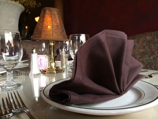 Place setting at Vera Mae's Bistro.