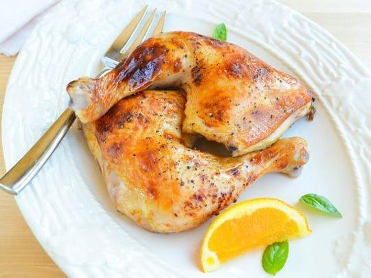 Roasted Orange-Brined Chicken