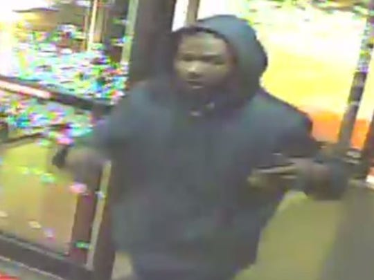 Suspect robbed two hotels within an hour.