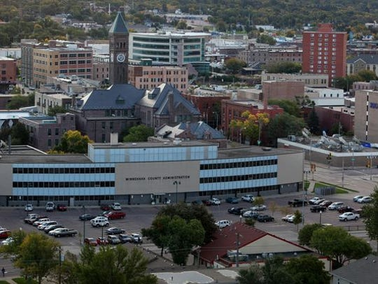The Sioux Falls skyline