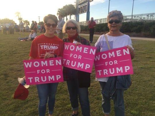 From left, Molly Mahtani, Carmella Buckels and Kelly