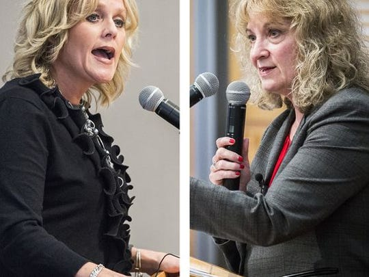 Jennifer McCormick and Glenda Ritz