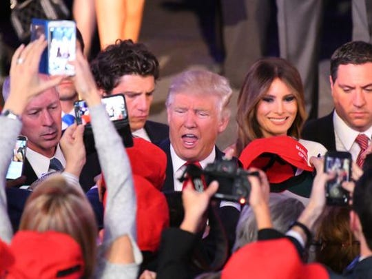 Donald Trump, sweeping to victory as the 45th president