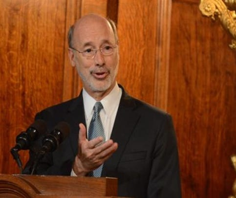Gov. Tom Wolf beings his third year in office facing a larger Republican legislative majority -- and one announced opponent for 2018.