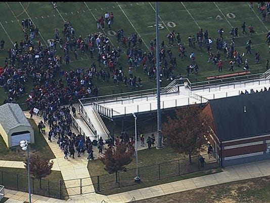 Maryland high school anti-Trump walk out