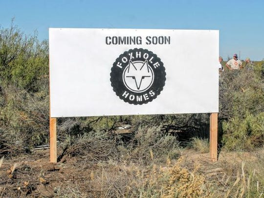 The proposed sustainable housing community for homeless veterans will be located at the corner of Alamogordo Drive and Tularosa Street.