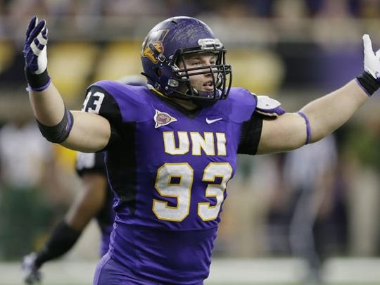 Karter Schult played defensive end Northern Iowa.