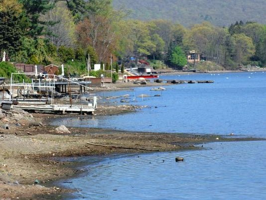Greenwood Lake drawdown