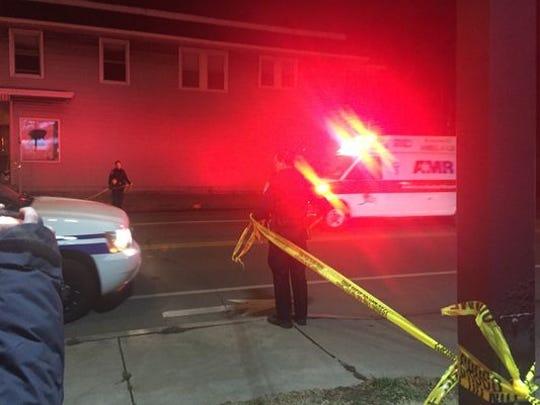 Ambulance outside Charlotte bar.