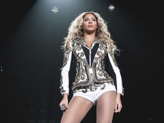 Beyoncé performs at the KFC Yum! Center in December of 2013.