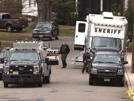 Morris County Sheriff's Office investigators at the