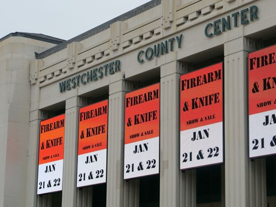 A firearm and knife show event is displayed at the