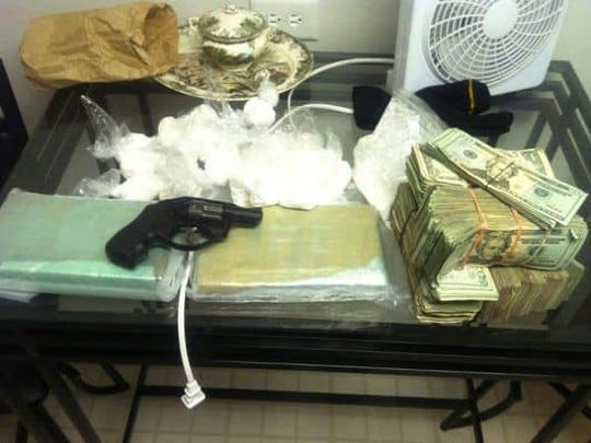 Pictured here is evidence seized from a Feb. 27, 2011