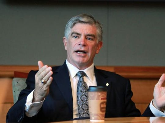 Former University of Delaware President Patrick Harker served on boards for two companies that gained business from UD.