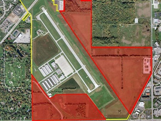 This is the land use plan for Metropolitan Airport in Fishers
