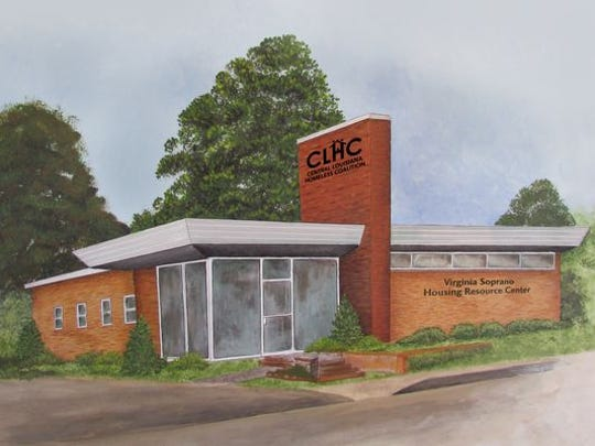 A drawing of what CLHC's housing resource center will look like, once renovations are completed.