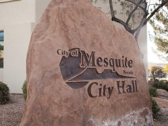 Members of the public and city council members met for their biweekly council meeting at the Mesquite City Hall on Feb. 12, 2019.