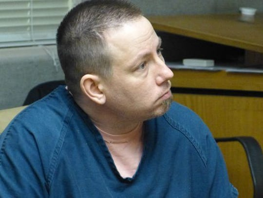 Adam Goad is shown during an earlier Superior Court