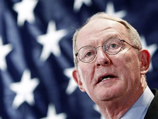 Sen. Lamar Alexander spoke to supporters in Knoxville