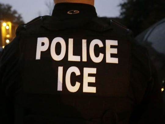 An Immigration and Customs Enforcement officer.