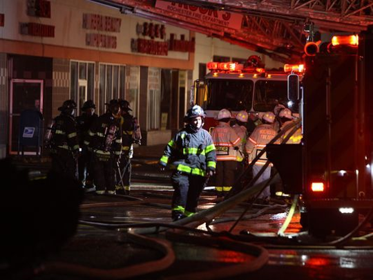 Fire at Mt. Hope Plaza