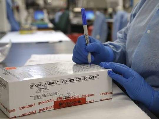 Rape kit in laboratory.