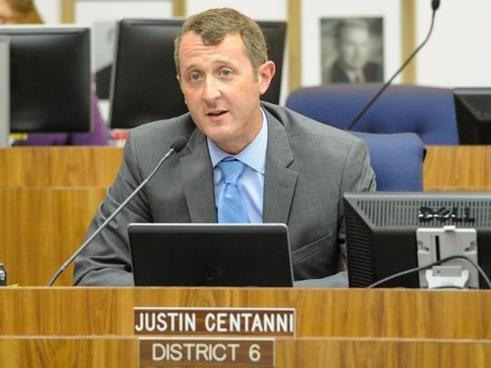 Lafayette Parish School Board member Justin Centanni proposed budgeting flat sales and property tax revenues, rather than increases.