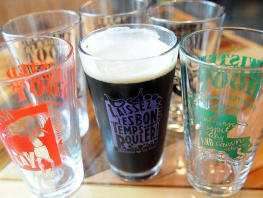 Twisted Root pint glasses