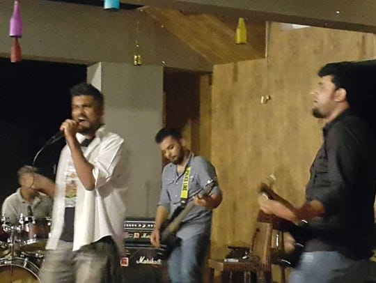 Pakistani hard rock cover band Crackdown performs at