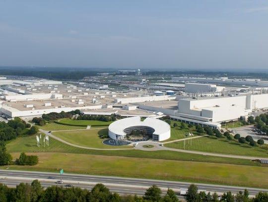 BMW Manufacturing in Spartanburg.