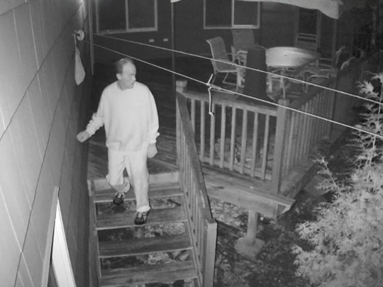 Video surveillance photo from Wayne Police Department.