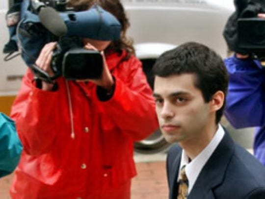 Zachary Witman enters the York County Courthouse in the late 1990s.