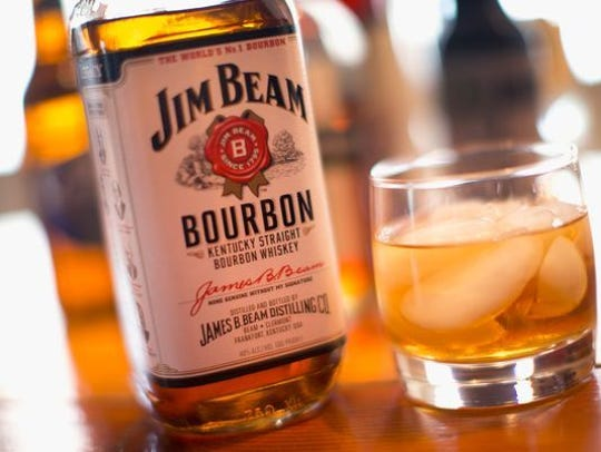 Jim Beam is a popular bourbon.