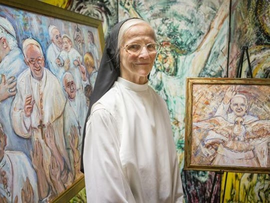 A versatile artist, Sister Mary Grace Thul has created