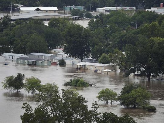 Widespread flooding because of Hurricane Harvey has