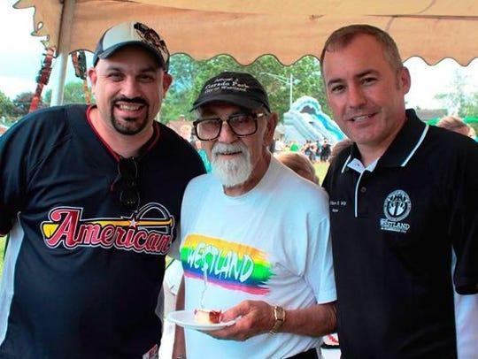 The late Sam Corrado (center) with Wayne Councilman