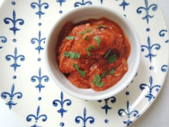 Crockpot zucchini turkey meatballs