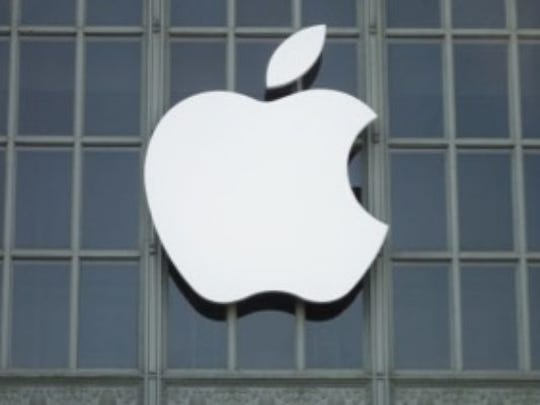 This undated file photo shows the logo of  U.S.-based tech giant Apple