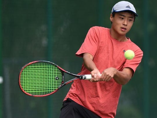Senior Andrew Zhang finished as a state runner-up for Bloomfield Hills at the No. 1 singles flight.