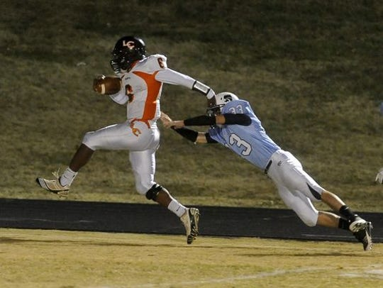 Camion Patrick eludes a tackle as a wide receiver at